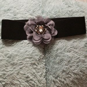 Accessories - Crystal Fabric Belt